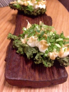Kale with westcombe and garlic