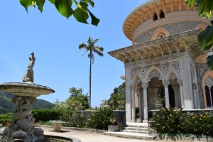 Montserrate Palace, Sintra. Designed in the mid 19th century, the gardens and exotic villa are a calm, cool escape from the bustling town below.