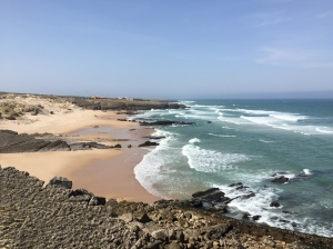 The Cascais coast. For the first part of the holiday we stayed at the beautiful 5 star Fortaleza do Guincho, with a breathtaking view across the Atlantic from the bedroom window.