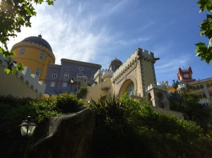 Pena National Palace, Sintra. The climb to the top is worth the effort, the views from the terrace are as captivating as the palace itself.