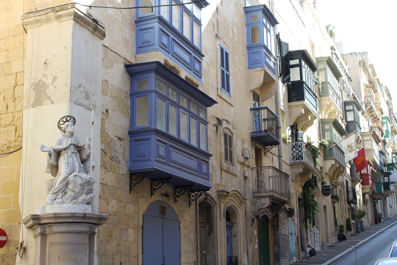 Typical Maltese wooden balconies