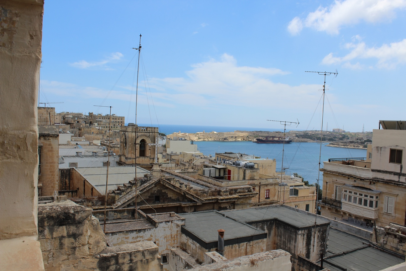 Our balcony overlooking Valletta harbour